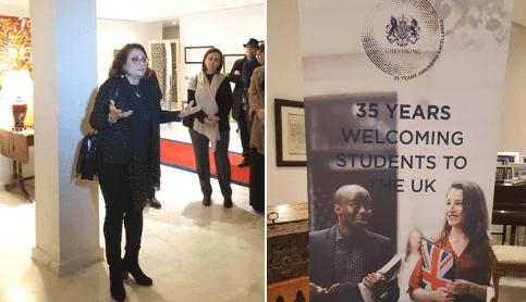 Intervention Professeur et Maître Khadija Elmadmad comme première boursière Chevening du Royaume Uni
